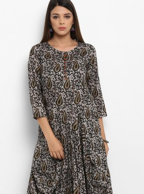 Viscose Printed Work Party Wear Kurti