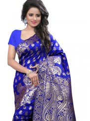 Weaving Art Silk Designer Traditional Saree in Blue