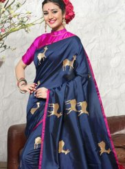 Weaving Art Silk Traditional Designer Saree in Blue
