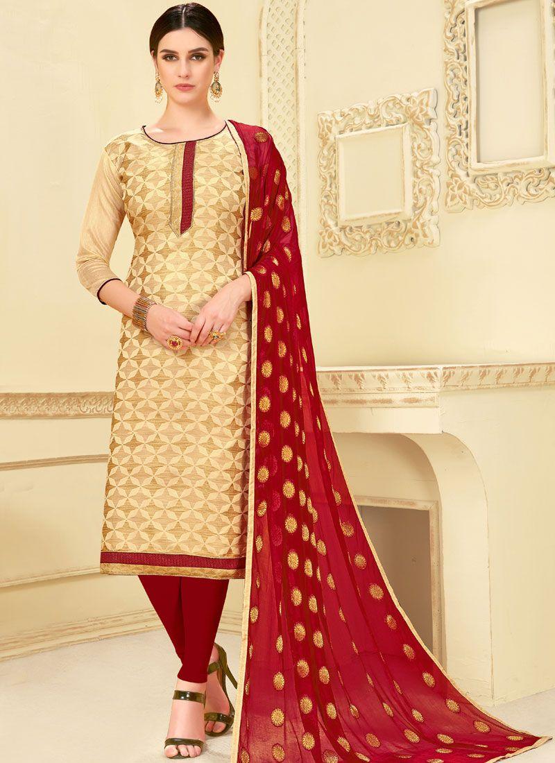 Weaving Churidar Suit