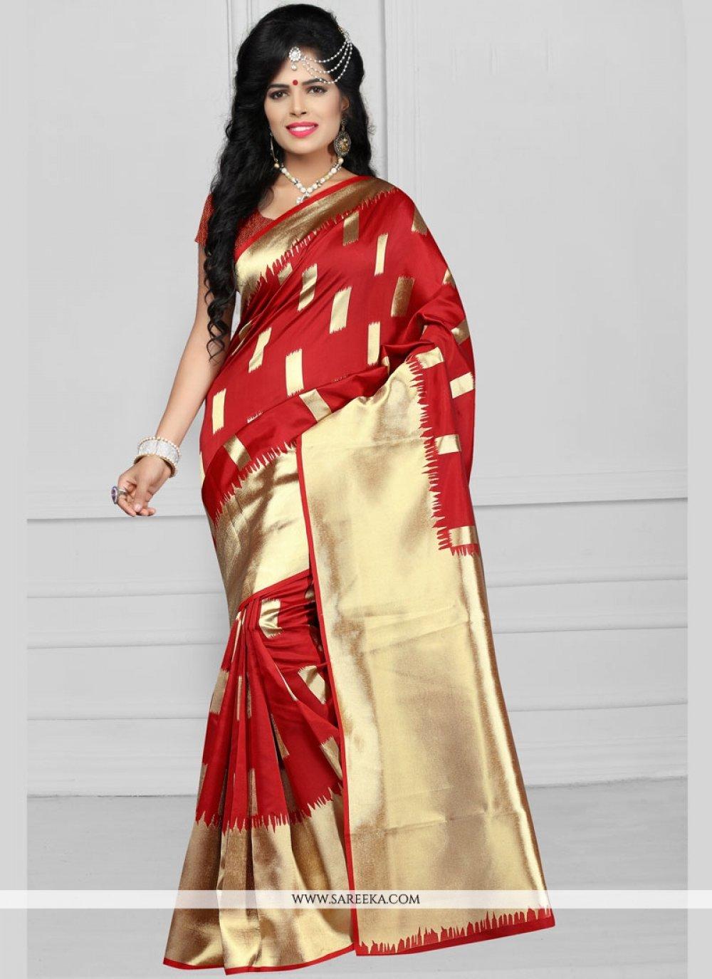 Weaving Work Art Silk Designer Traditional Saree