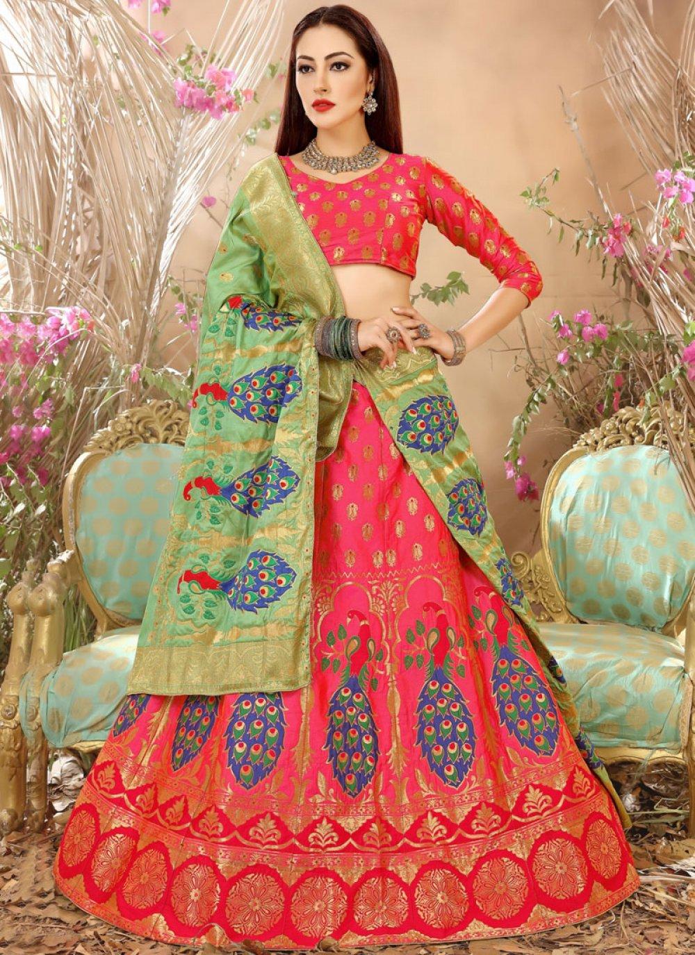 Weaving Work Art Silk Lehenga Choli