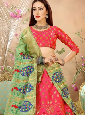 Weaving Work Art Silk Lehenga Choli
