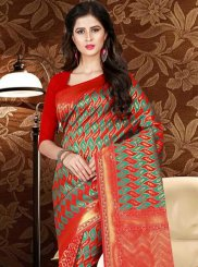 Weaving Work Art Silk Traditional Designer Saree