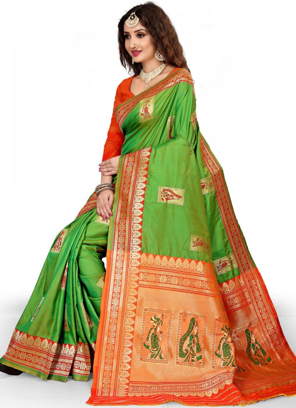 Weaving Work Designer Traditional Saree