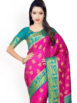 Weaving Work Kanchipuram silk Designer Saree