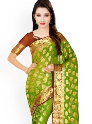 Weaving Work Kanchipuram silk Designer Traditional Saree
