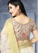White Embroidered Traditional Saree