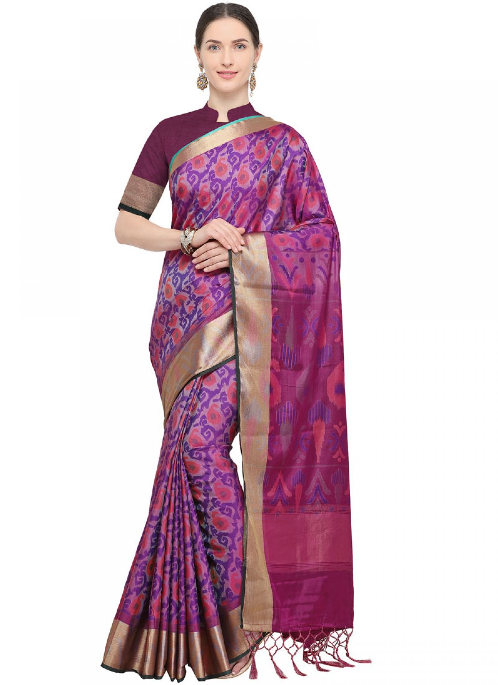 Wine Party Traditional Saree