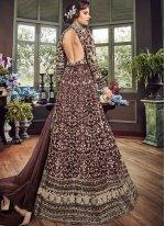 Wine Wedding Floor Length Anarkali Suit