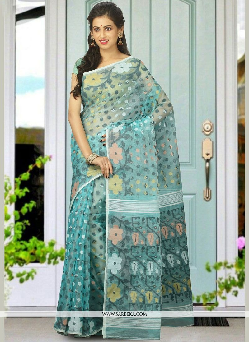 woven Work Blue Designer Traditional Saree