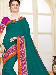 woven Work Cotton Silk Casual Saree