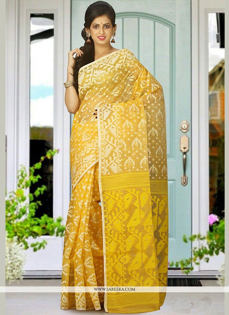 woven Work Cotton Silk Traditional  Saree
