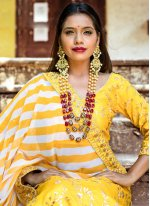 Yellow Banglori Silk Lehenga Choli