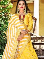Yellow Banglori Silk Lehenga Choli