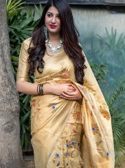 Yellow Festival Art Silk Traditional Saree
