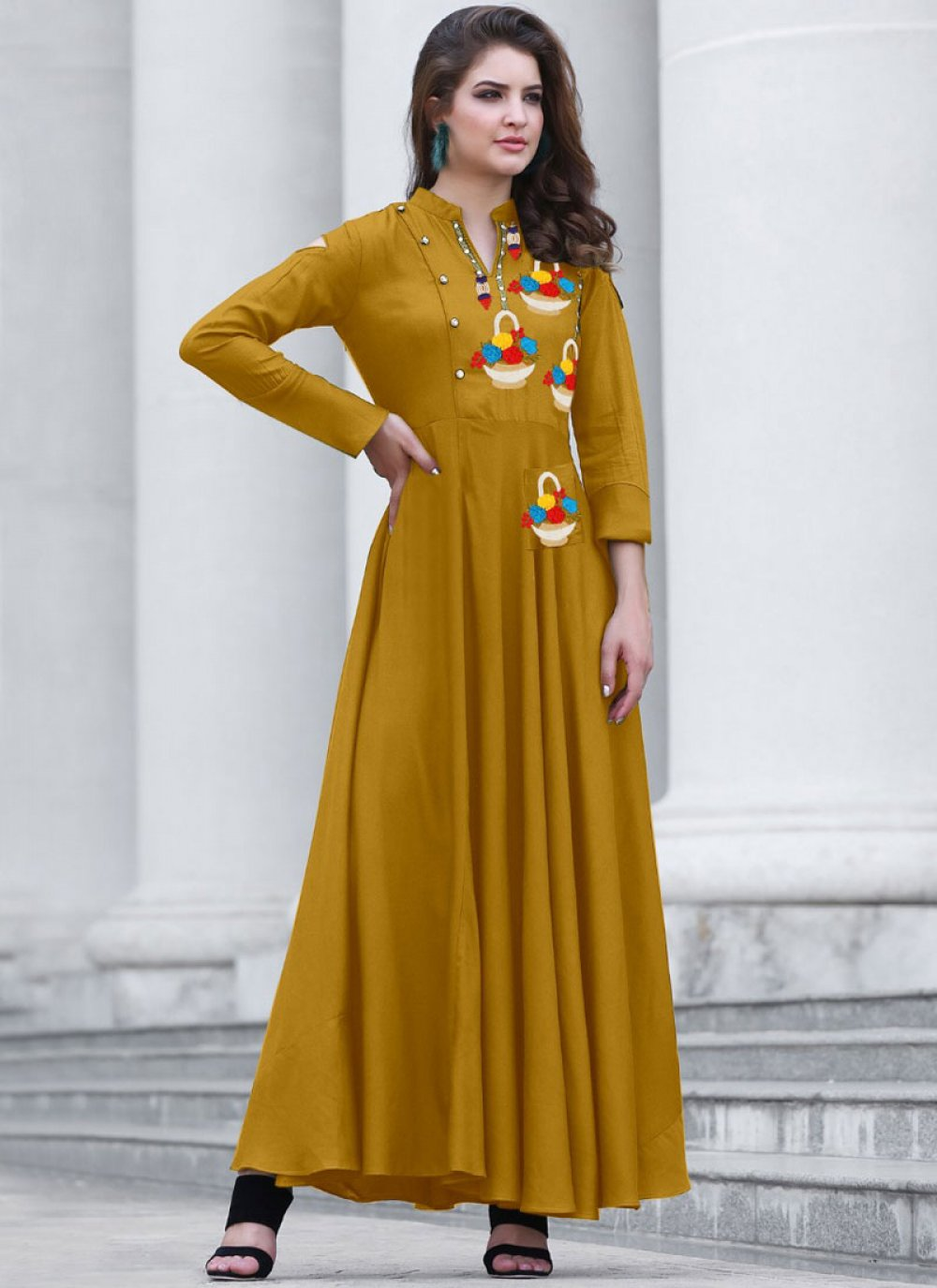 Yellow Festival Designer Kurti