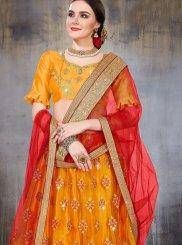 Yellow Net Sangeet Lehenga Choli