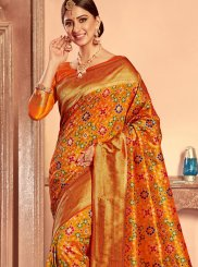 Yellow Weaving Patola Silk  Designer Traditional Saree