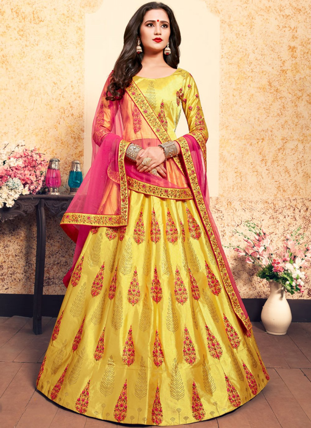 Yellow Wedding Designer Lehenga Choli