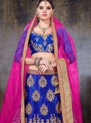 Zari Blue Designer Lehenga Choli