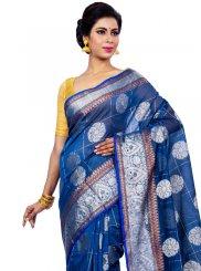 Zari Chanderi Classic Designer Saree