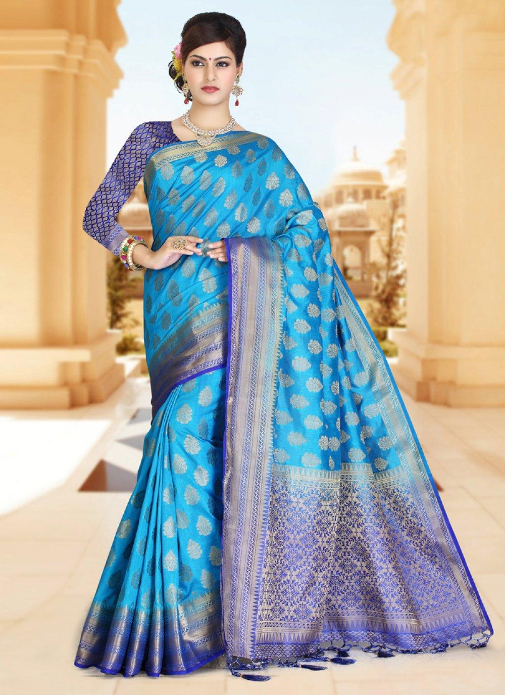 Zari Work Art Silk Classic Designer Saree
