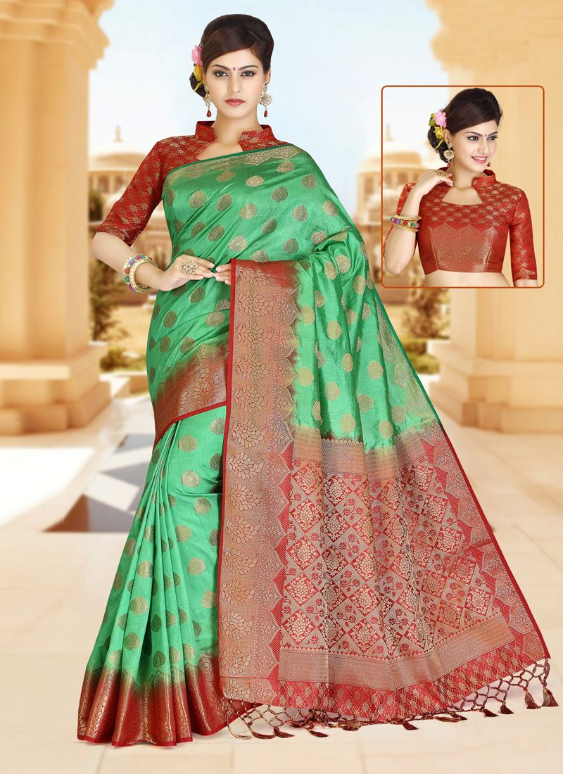 Zari Work Art Silk Classic Designer Saree