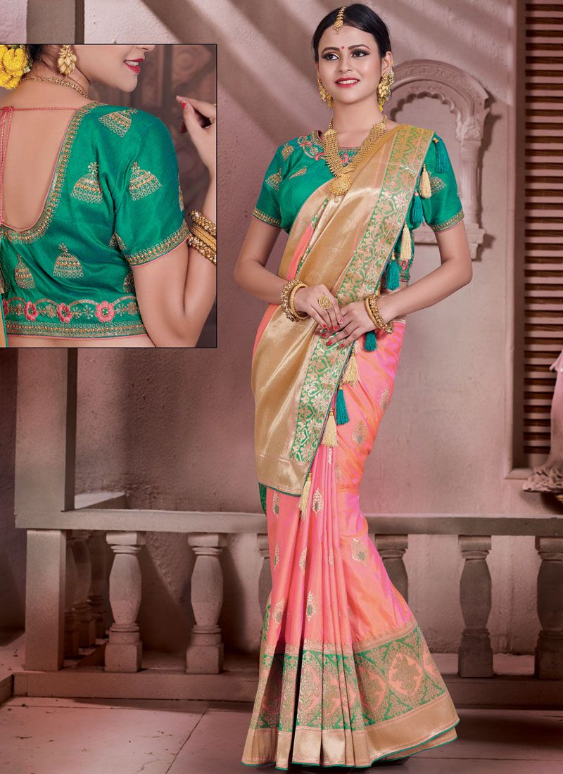 Zari Work Art Silk Designer Traditional Saree