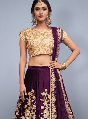 Zari Work Art Silk Lehenga Choli