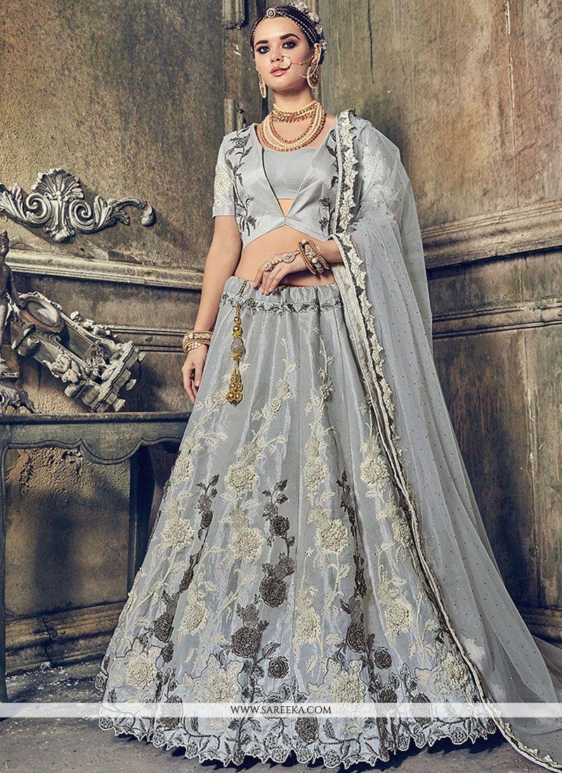 Zari Work Banarasi Silk Lehenga Choli