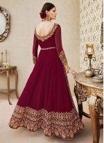 Zari Work Floor Length Anarkali Suit