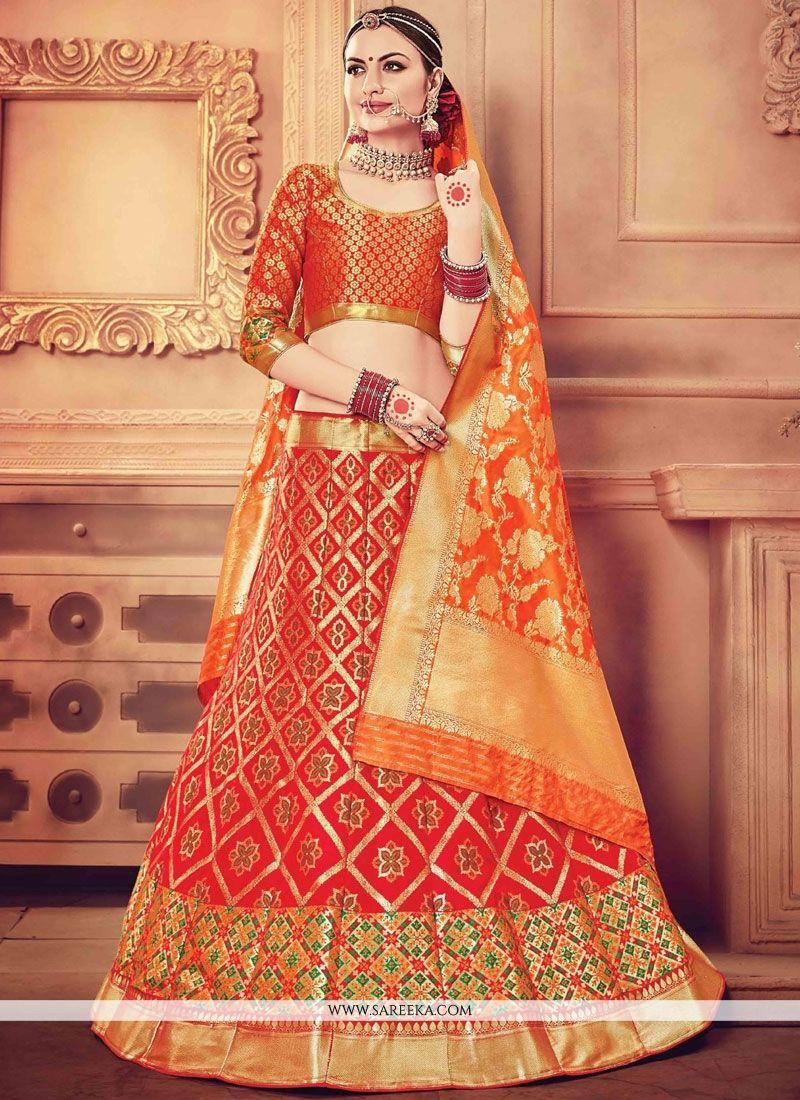 db771c6904 Zari Work Red Designer Lehenga Choli buy online -