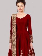 2f90e6ec11 Red Anarkali Suits, Red Color Anarkali Salwar Kameez and Red Color Anarkali  Salwar Suits Online Shopping