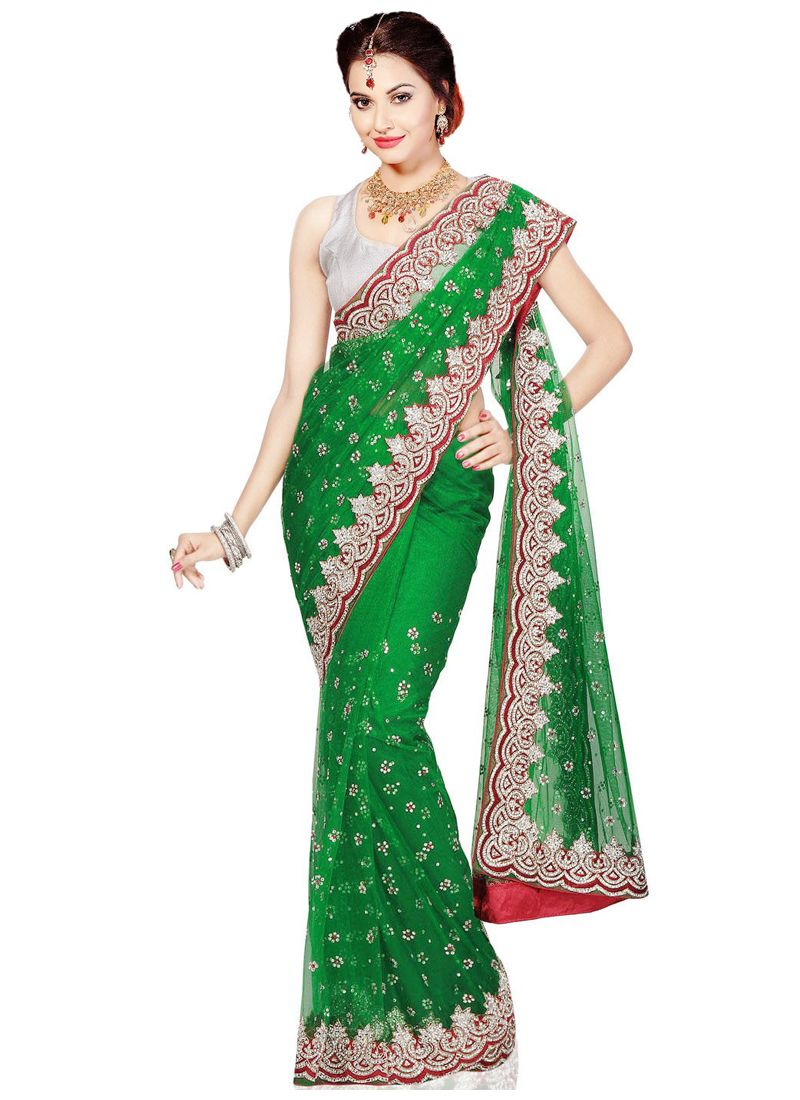 Zircon Work Designer Contemporary Saree