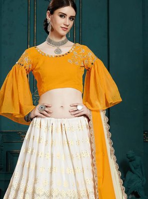A Line Lehenga Choli For Reception