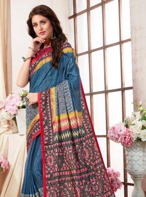Abstract Print Art Silk Printed Saree