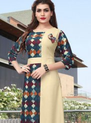 Abstract Print Casual Casual Kurti