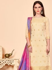 Abstract Print Casual Churidar Salwar Kameez