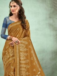 Abstract Print Casual Saree