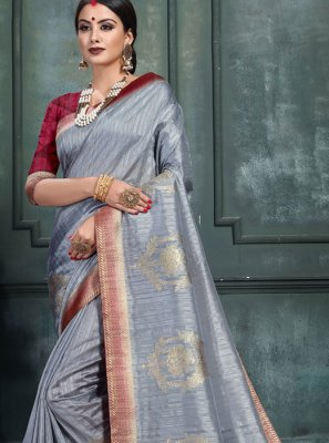 Abstract Print Ceremonial Classic Saree