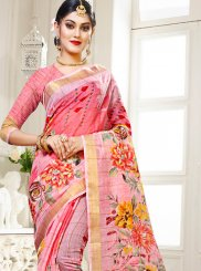Abstract Print Cotton Silk Multi Colour Traditional Saree
