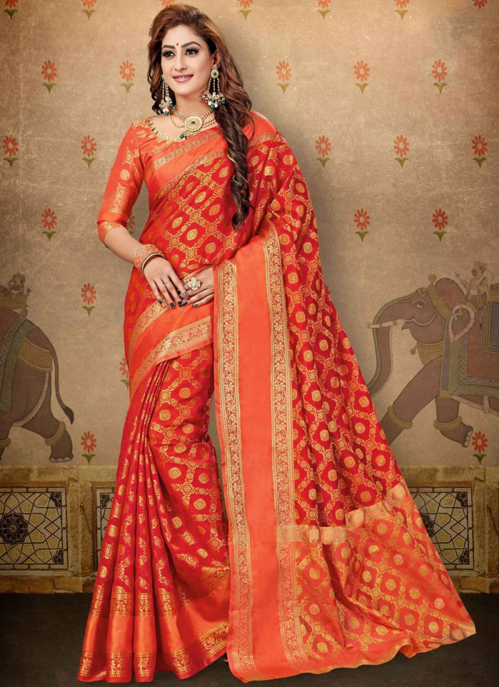 Abstract Print Cotton Trendy Saree