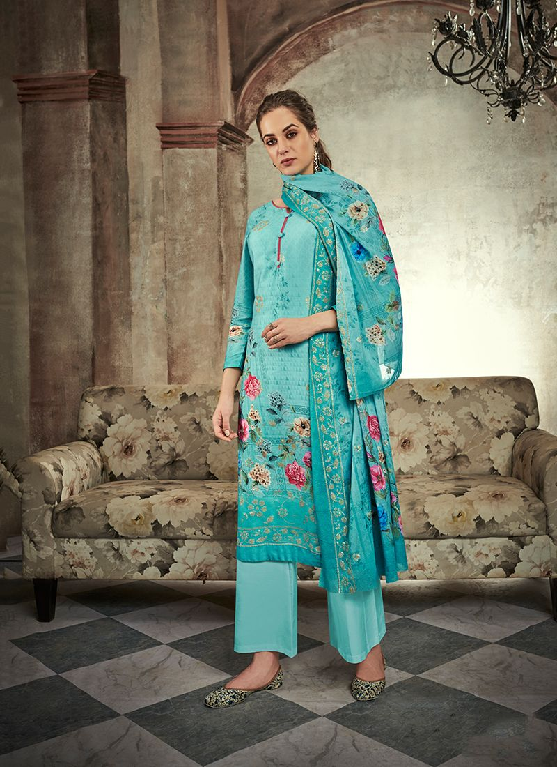 Abstract Print Designer Palazzo Suit