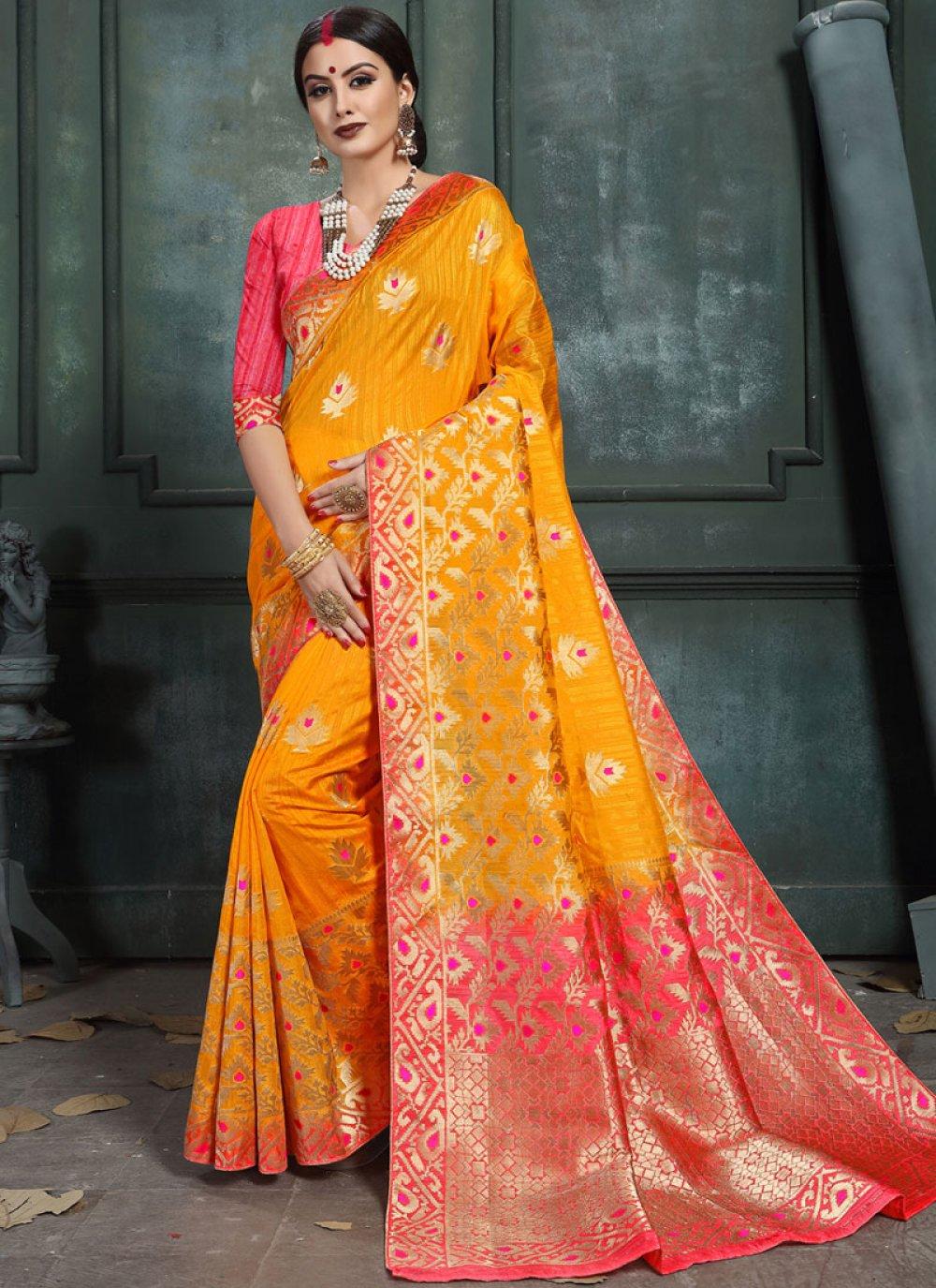 Abstract Print Designer Saree