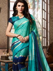 Abstract Print Fancy Fabric Printed Saree