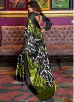 Abstract Print Faux Crepe Multi Colour Printed Saree