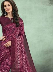 Abstract Print Festival Casual Saree