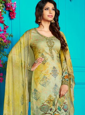 Abstract Print Festival Churidar Designer Suit