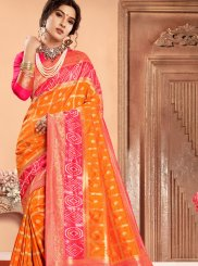 Abstract Print Mehndi Classic Saree